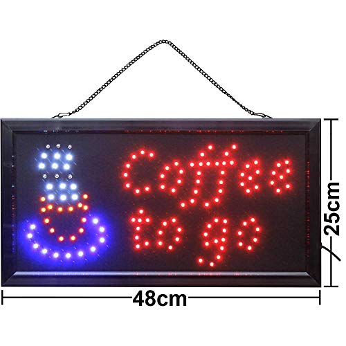 LED Schild Leuchtreklame Ladenschild Coffee to go