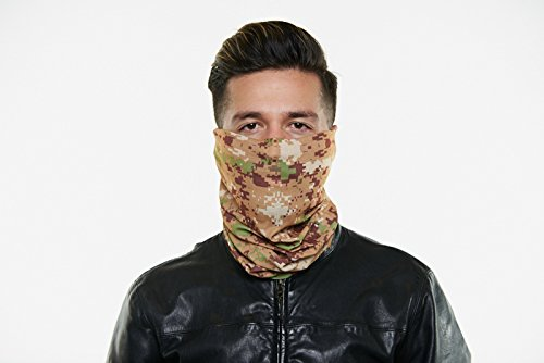 Seamless Outdoor Face Mask Bandanna. Breathable, Dust Proof - Great for Skiing, Snowboarding, Motorcycle, Bicycle, Running, Camping, Hiking (REG, Marine)