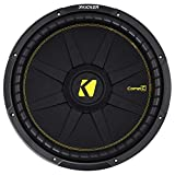 KICKER 44CWCD154 CompC 15 Inch 4 Ohm 600 Watt RMS Power and 1200 Watts Peak Power Dual Voice Coil Car Vehicle Audio Subwoofer, Black