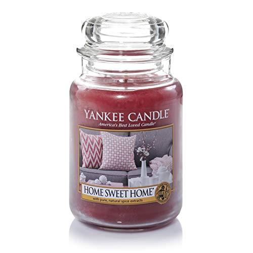 Yankee Candle Duftkerze im großen Jar, Home Sweet Home, Brenndauer bis zu 150Stunden