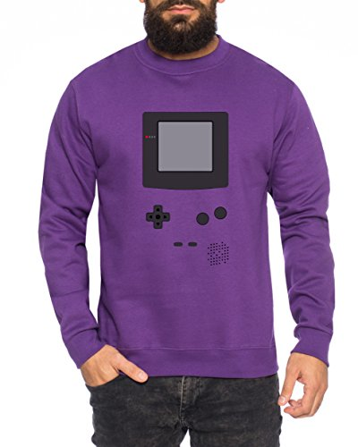 Big Gamecolor Bang Nerd Theory Sheldon Gameboy Herren Sweatshirt Pullover Sweat, Größe:XL, Farbe:Lila