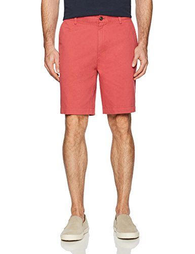 "Amazon Essentials Men's Classic-Fit 9"" Short, Washed Red, 36"
