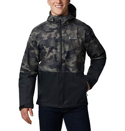 Columbia Roan Mountain Jacket Chaqueta entallada, Black Trad Camo/Negro, S para Hombre