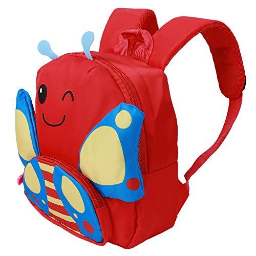 Asixxsix Mochila para bocadillos, Conveniente y fácil de Viajar, Bolsa Preescolar, para niñas y niños(Red)