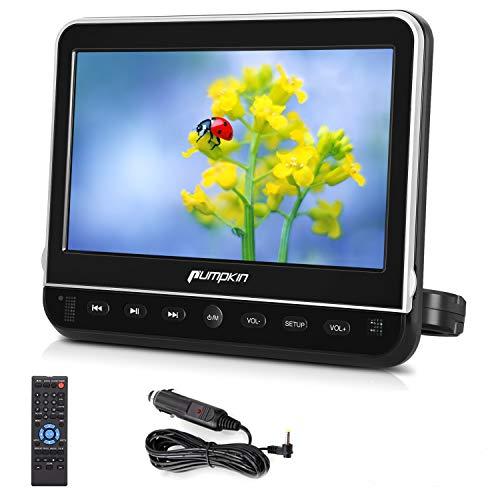 PUMPKIN ヘッドレストモニター HDMI 10.1インチ スマホ同期可 dvdプレーヤー 車載 CPRM ACアダプター 専用A...