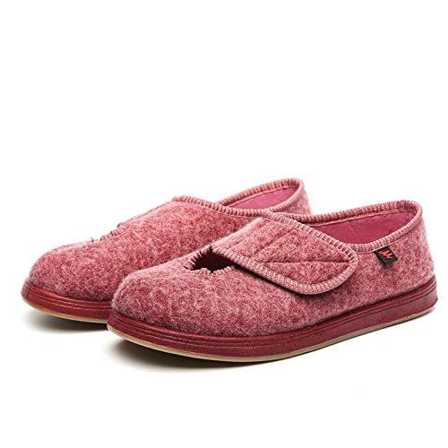 QFYD FDEYL Extra Breite Wanderschuhe Verschlüssen,Verbreitern Sie justierbares zuckerkrankes Fußschuhpuder_38, geschwollene Schuhe