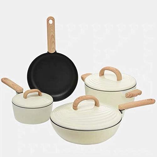 WLGQ Batterie de Cuisine Poêle à Soupe ragoût Casseroles et casseroles Cuiseur à Induction Casserole de Cuisine Double chaudière poêle à Frire Vapeur (Couleur: 18cm) 18cm