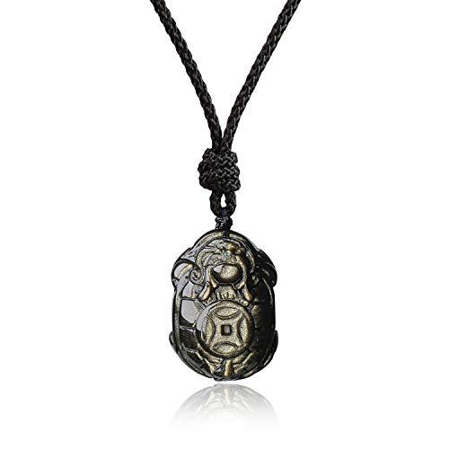 coai Collier Ajustable Pendentif Amulette Dragon Tortue Pier