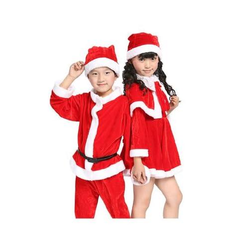 2e4785a90616c サンタ コスプレ衣装 サンタ 衣装 子供 サンタ コスチューム キッズ 子供服 サンタクロース 帽子付き 女の子 男の子