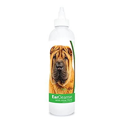 Healthy Breeds Dog Ear Cleaning Rinse with Aloe for Chinese Shar Pei - Over 200 Breeds - Veterinarian Formulated - Help with Itching & Scratching - 4 oz