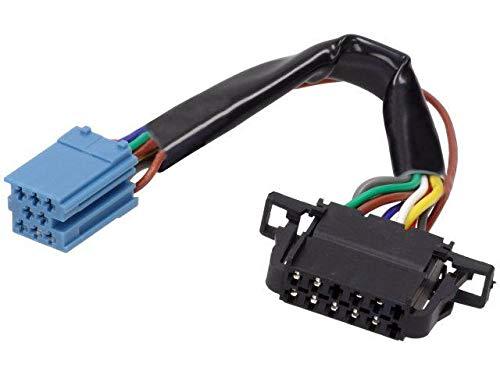 Cable Autoradio compatible avec changeur CD ISO mini 8pin vers 12pin compatible avec Audi VW 0.15m