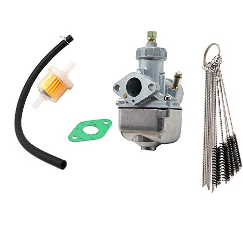 Dokili Vergaser 21mm 16N1-11 für Simson S50 S51 S70 DDR-Typ 1.Wahl, Vergaser Carbon Reiniger Kit & Kraftstofffilter Dichtung