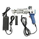 Cut Pile Tufting Gun Carpet Weaving Flocking Machine Set Hand-Held Electric Punch Needle Looped Pile Rug Tools