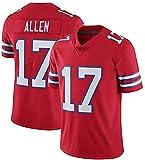 17# Allen Football américain Jersey Rugby Bills Jersey, Football américain Jeu Jersey Outdoor Jersey Gardner Hommes Confortable T-Shirt de Sport à Manches Courtes Red-XXL(190~195CM)