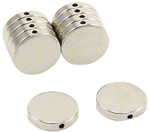 First4magnets F670DH-10 10mm x 2mm Dicker N42-Neodym-Magnet mit 1mm Loch durch den Durchmesser (1 St-Packung), Dia Thick, 10 Stück