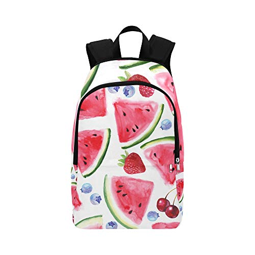 Bright Summer Seamless Pattern with Juicy Slices O Casual Daypack Travel Bag College School Backpack for Mens and Women