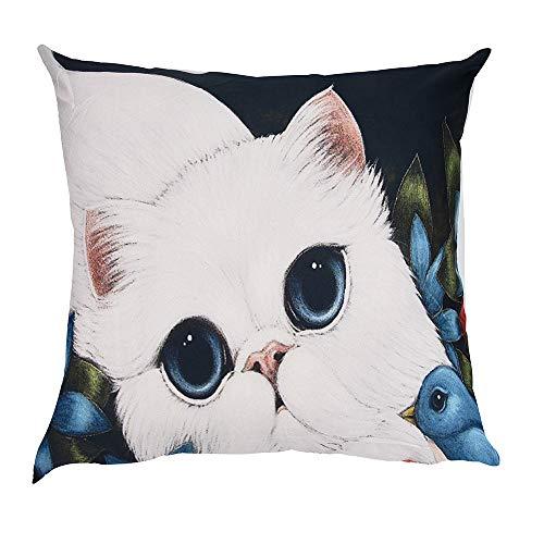 OYSOHE Katze Kissenbezug Dekoration Auto Sofa Schlafzimmer Kissenbezug,Waschbar,45x45cm (Einheitsgröße, J)