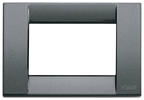 Vimar 16733.23 Idea Placca Classica 3 Moduli antracite metallizzato