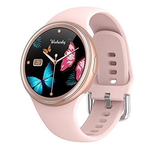 Women's Smart Watch Long Standby Heart Rate Blood Pressure Monitor Sports Waterproof Bracelet-Pink