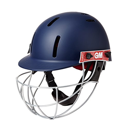 Gunn & Moore Boys' GM (5018) Purist GEO Cricket Helmet, Navy, Junior