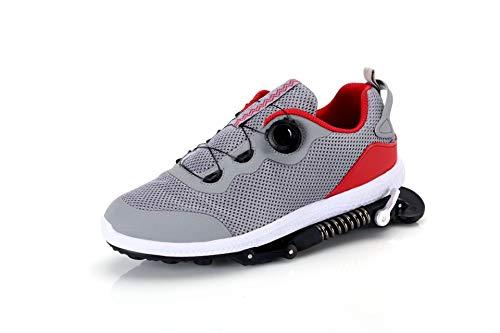 gengyouyuan Zapatillas de correr mecánicas para hombre y mujer, transpirables, resistentes al desgaste, zapatos deportivos con absorción de golpes, color, talla 40.5 EU