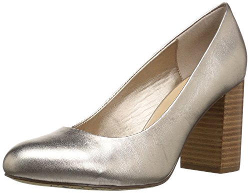 Bella Vita Women's NARA Pump, Champagne Leather, 9 2W US