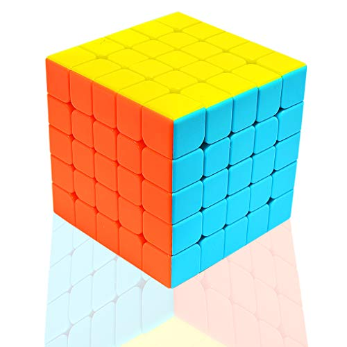 TOYESS Cubo de Velocidad Rompecabezas Cubo Mágico 5x5x5 Speed Cube Regalo para Adulto Niños,Stickerless