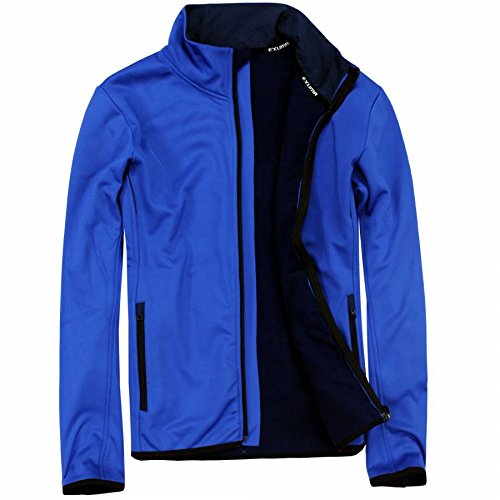 EXUMA Herren Sportbekleidung Softshell Jacke, Royal Blue 2, XL