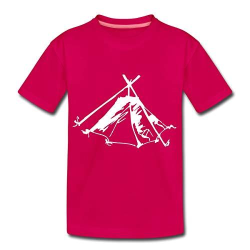 Zelt Biwak Kothe Teenager Premium T-Shirt, 158-164, Dunkles Pink