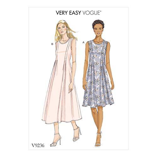 Vogue Patterns Medium Poids Lin Robes, Multicolore, Tailles 14–22