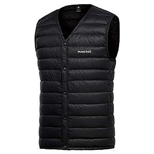 (モンベル) mont-bell スペリオダウンVネックベスト メンズ ヴイネック ブイネック インナーダウン Superior down V-neck Best for Men (ブラック, 095(M)身長165~175cm) [並行輸入品]