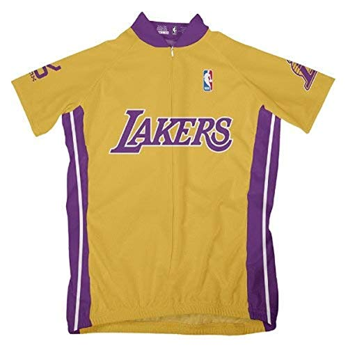 VOmax NBA Damen Radtrikot Los Angeles Lakers Kurzarm, Damen, gelb, Large
