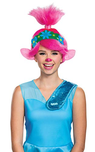Disguise Women's Trolls World Tour Poppy Wig Costume Accessory, Pink, Adult Size
