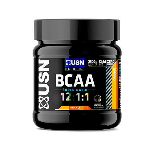USN BCAA 12.1.1, Amino Ratio with ADDED Glutamine, Orange, 315 g