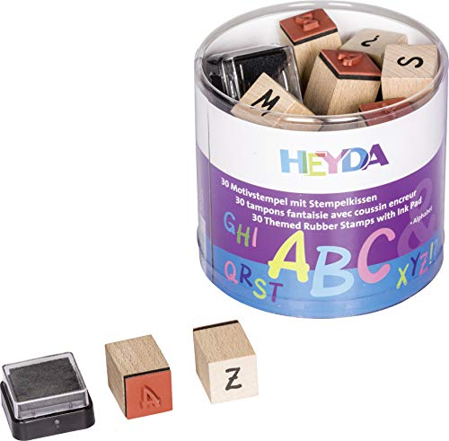Heyda 204888479 Heyda 204888479 Stempel-Dose (Alphabet) Motivgröße: ca. 1,5 x 1,5 cm