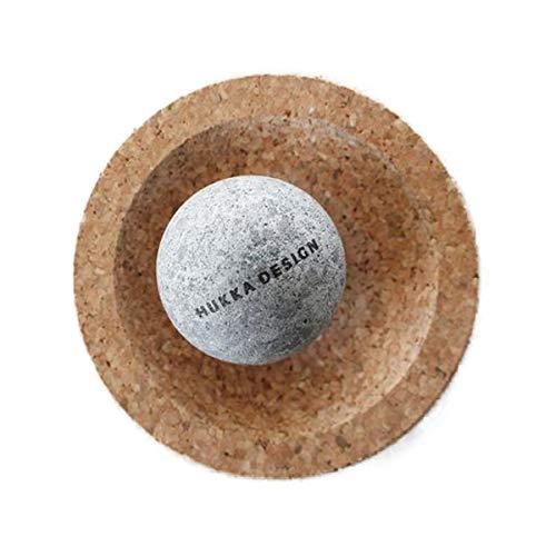 MiniSolejoy   Bola de masaje para los músculos de los pies, masaje de las zonas reflejas de los pies, hecha de piedra de jabón natural con base de corcho, fabricada en Finlandia.
