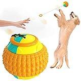 Asotagi Juguetes para perros con cuerda Mascotas Mordedura Masticar Pelota de Entrenamiento Lanzamiento Bolas Juguete Interactivo Perros Gatos Suministros al aire libre