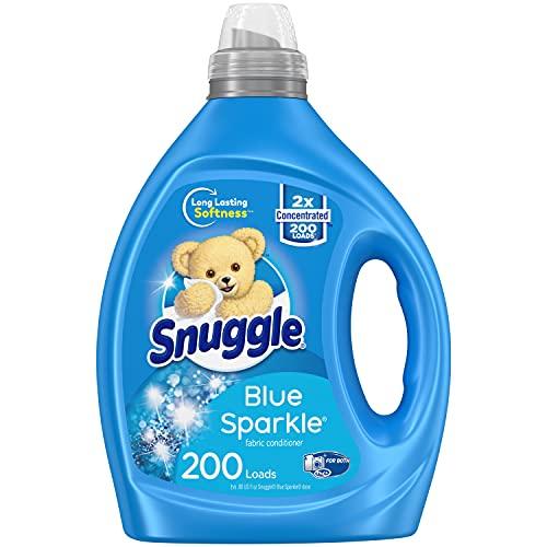 Snuggle Blue Sparkle Liquid Fabric Softener, 2X Concentrated, 200 Loads, 80 Fl...