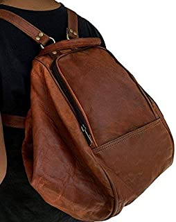 Leather Laptop Backpack Travel Laptop Backpack Extra Large College School Backpack Brown Vintage Leather Backpack Laptop Messenger Bag Rucksack Sling for Women