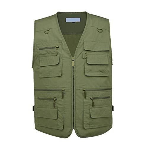 QWQW Visserij Fotografie Vest, Mannen Multi Pockets Waistcoat 16 Zakken Leer, Zomer en Herfst Outdoor Gilet