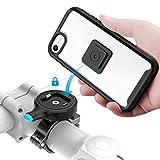 SOKUSIN Soporte para teléfono para Bicicleta para iPhone SE2/7/8, Soporte para teléfono de Motocicleta aleación de Aluminio con Estuche a Prueba de Golpes, Soporte para Manillar de Motocicleta