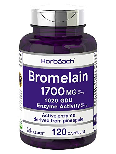 Bromelain 1700mg | 120 Capsules | for Maximum Protein Digestion | Non-GMO, Gluten Free Supplement