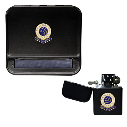 Blackburn Rovers Football Club Cigarette Rolling Machine and storproof Petrol Lighter