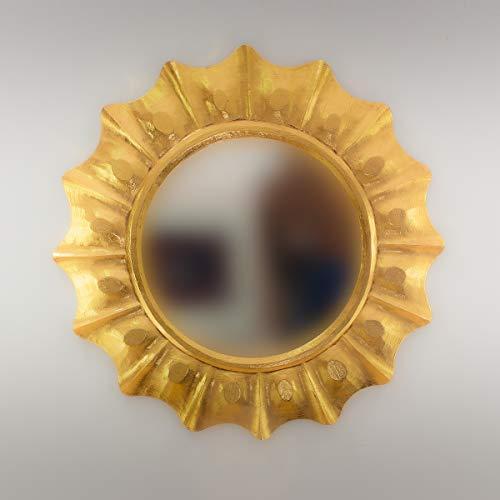 Rococo Espejo Decorativo Tipo Sol de Madera Round Surya de 50x50 en Oro (Envejecido)
