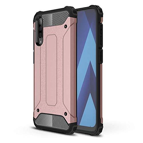 Happy-L Caso Samsung Galaxy A70 / A70s, Doble Capa Dura PC + TPU Flexible Suave/Cubierta de Silicona, Caja del teléfono Absorbente de Golpes (Color : Rosegold)