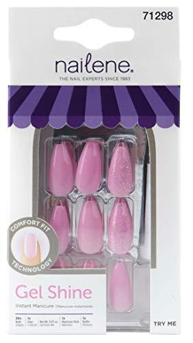 Nailene Gel Shine Pink Glitter Ballerina
