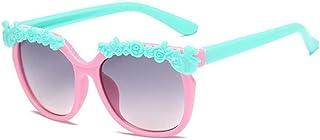 QPRER - Gafas De Sol,Rosa Rojo Encaje Ojos De Gato Espejo Degradado Clásico Niña IR De Compras Calle Gafas De Sol Verano Niños Diario Al Aire Libre Gafas Niño Seaside Party UV Cumpleaños Regalo del