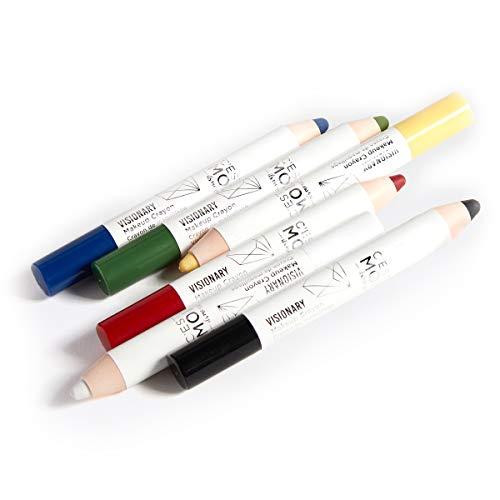 C'est Moi Visual Artist 6 Piece Makeup Crayon Set | Versatile, Vibrant Hue Makeup Crayon Kit, Hypoallergenic, Fragrance Free, Clinically Tested Non-Toxic Ingredients feat. Mica & Carnauba Wax