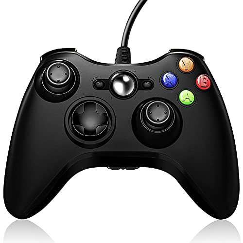 Xbox 360 Controller Wired, Wired Xbox Controller for PC, Wired Xbox 360 Controller Compatible with Microsoft Xbox 360/360 Slim and PC Windows 10, 8, 7