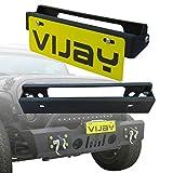 Tioyar Flip-Up License Plate Holder for Winch Black for Wrangler TJ YJ JK JKU JL Gladiator JT Truck